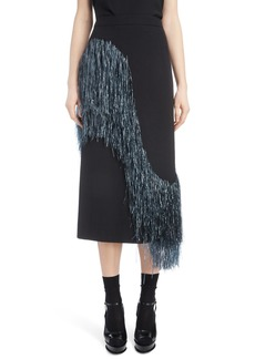 Dries Van Noten Raffia Fringe Skirt