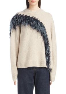 Dries Van Noten Raffia Fringe Sweater