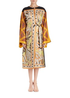 Dries Van Noten Ramido Floral-Print Silk Kimono Coat