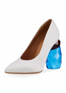 Dries Van Noten Resin-Heel Canvas Pump