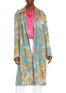 Dries Van Noten Rolta Floral Jacquard Cotton Blend Coat