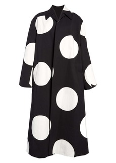Dries Van Noten Ruberta Dot Cotton Coat