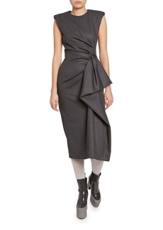 Dries Van Noten Ruched-Side Dress