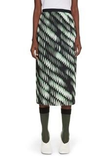 Dries Van Noten Sarean Print Pleated Skirt