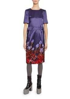 Dries Van Noten Satin Floral Dress