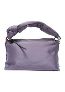Dries Van Noten Satin Knot-Handle Shoulder Bag