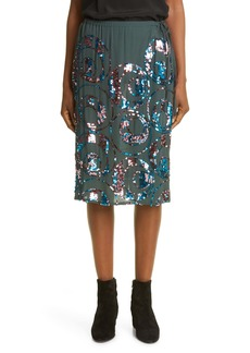 Dries Van Noten Scotta Sequin Embellished Skirt