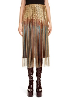 Dries Van Noten Sequin Fringe Skirt