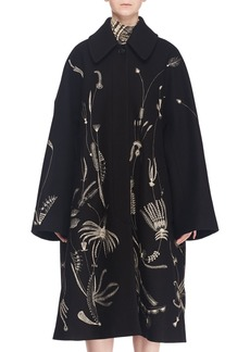 Dries Van Noten Single-Breasted Embroidered Wool-Blend Coat