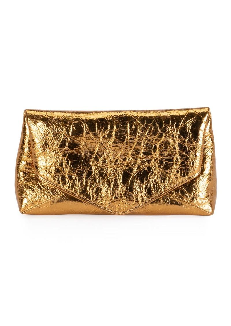 Dries Van Noten Small Metallic Envelope Clutch Bag