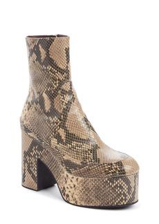Dries Van Noten Snake Embossed Platform Boot (Women)