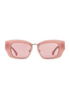 Dries Van Noten Square Frame Acetate Sunglasses