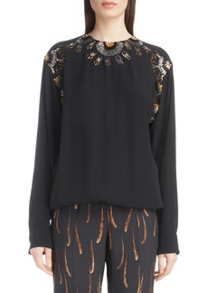 Dries Van Noten Starburst Embellished Blouse