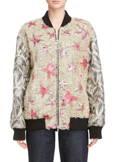 Dries Van Noten Starfish Shaggy Bomber
