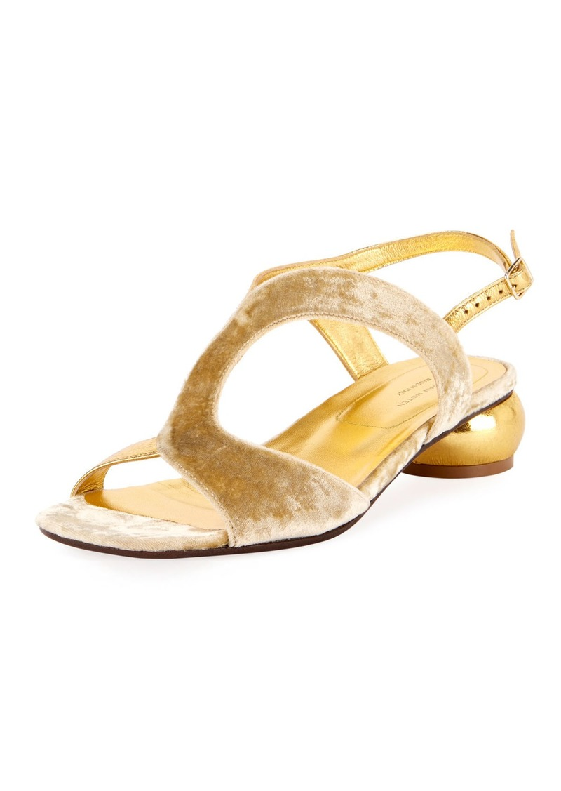 d426478824cb Dries Van Noten Dries Van Noten Strappy Velvet 20mm Sandal
