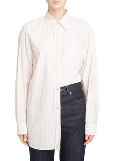 Dries Van Noten Stripe Cotton Oversize Shirt