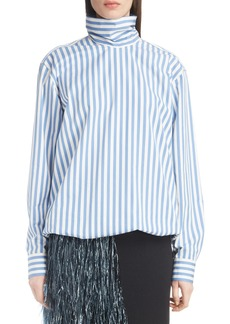 Dries Van Noten Stripe Poplin Blouse