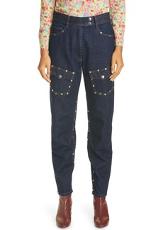 Dries Van Noten Studded Tapered Jeans