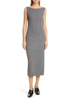 Dries Van Noten Tara Merino Wool Blend Midi Sweater Dress
