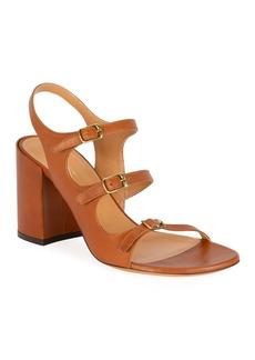 Dries Van Noten Three-Strap Block-Heel Sandals