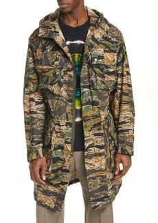 Dries Van Noten Valder Bis Camo Hooded Coat