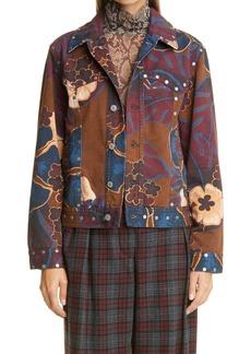 Dries Van Noten Vegass Studded Floral Jacket