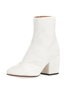 Dries Van Noten Velvet Block-Heel Boot