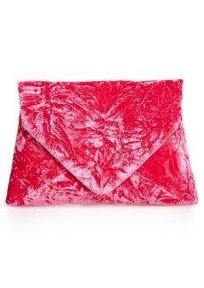 Dries Van Noten Velvet Envelope Clutch