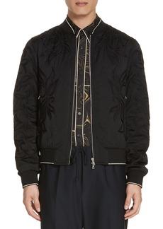 Dries Van Noten Vinny Quilted Embroidered Bomber Jacket
