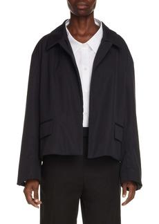 Dries Van Noten Vondi Open Front Crop Cotton Jacket