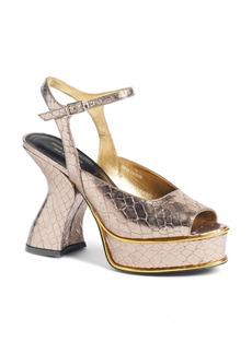 Dries Van Noten Wave Heel Platform Sandal (Women)