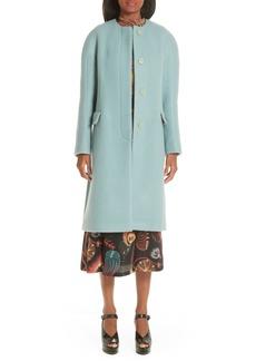 Dries Van Noten Wool & Mohair Coat