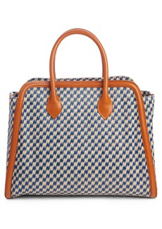 Dries Van Noten Woven Raffia & Leather Tote
