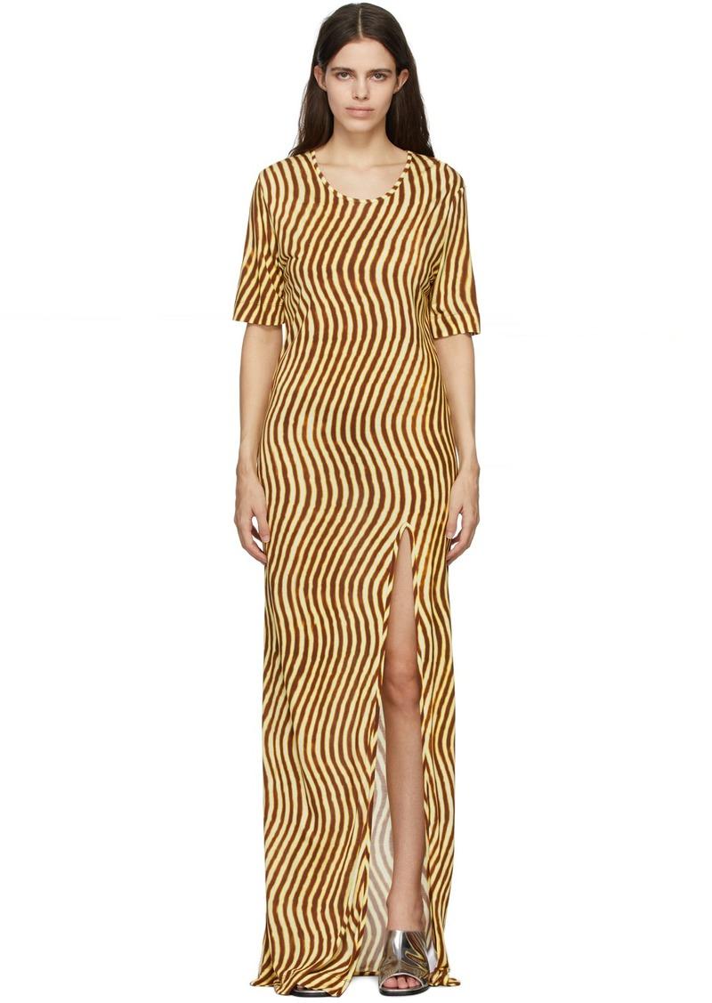 Dries Van Noten Yellow Len Lye Edition Slit Long Dress