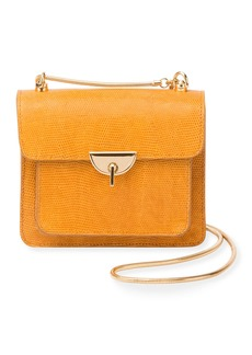 Dries Van Noten Embossed Leather Crossbody Bag with Chain & Turn-Lock