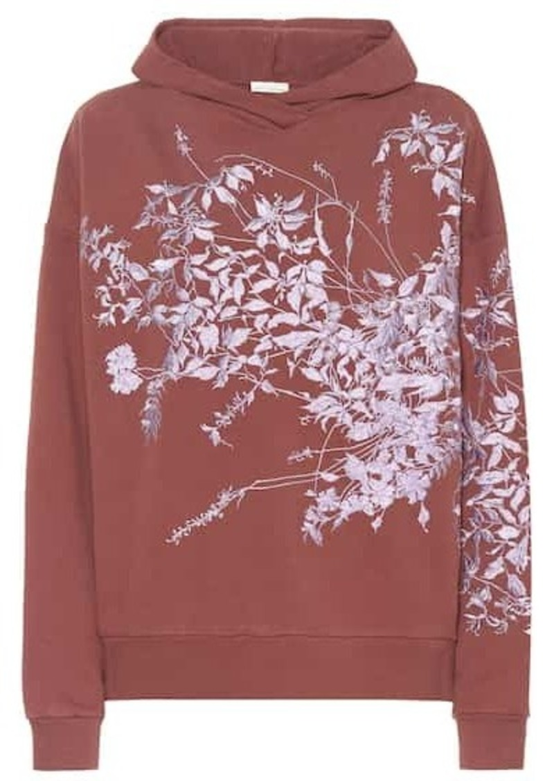 Dries Van Noten Embroidered cotton-jersey hoodie