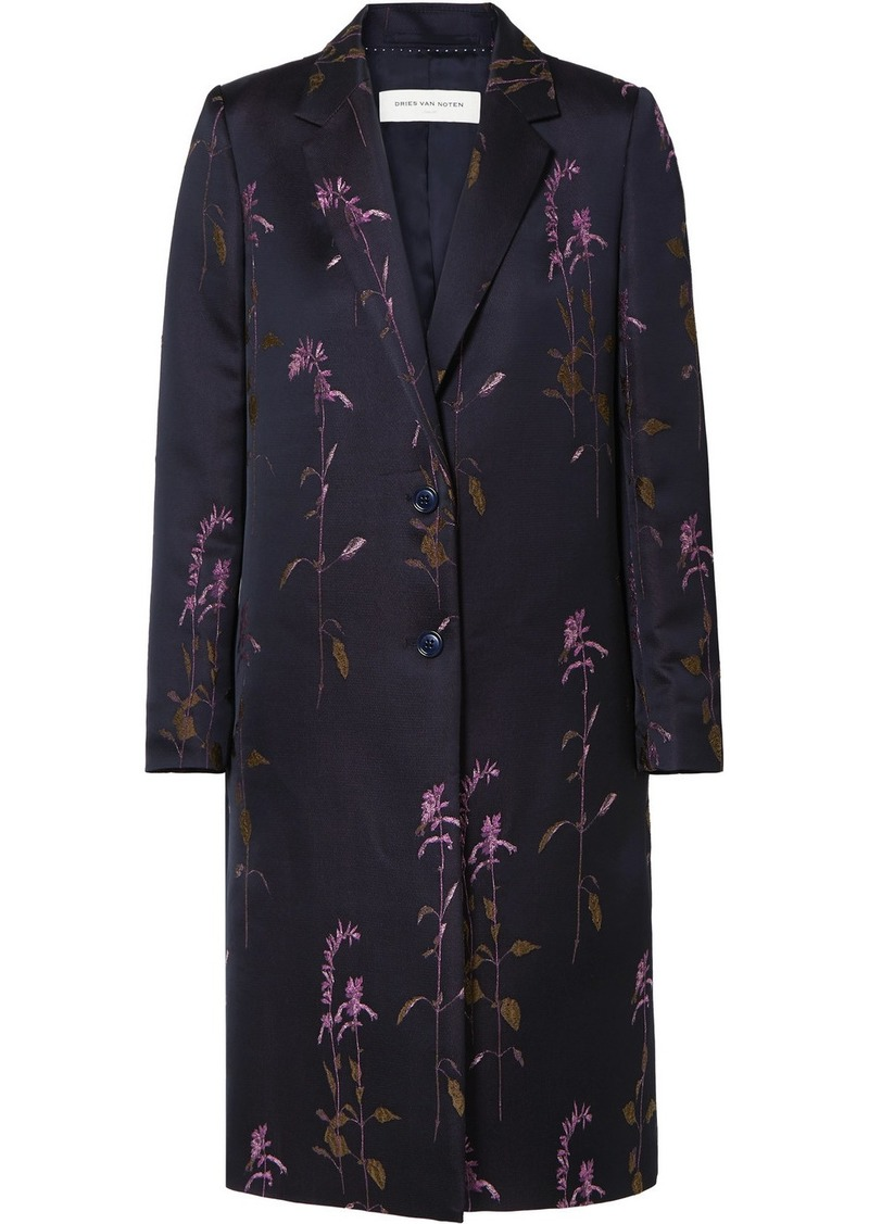 Dries Van Noten Embroidered Twill Coat