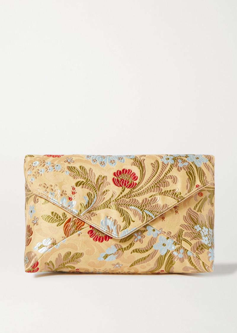 Dries Van Noten Envelope Floral-jacquard Clutch