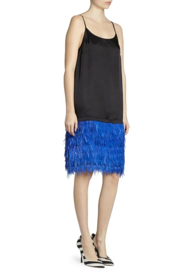 Dries Van Noten Feather Skirt Slip Dress
