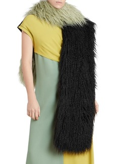 Dries Van Noten Faux Fur Scarf
