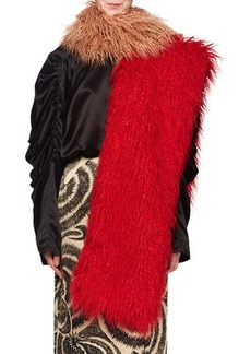 Dries Van Noten Feltre Shaggy Faux-Fur Scarf