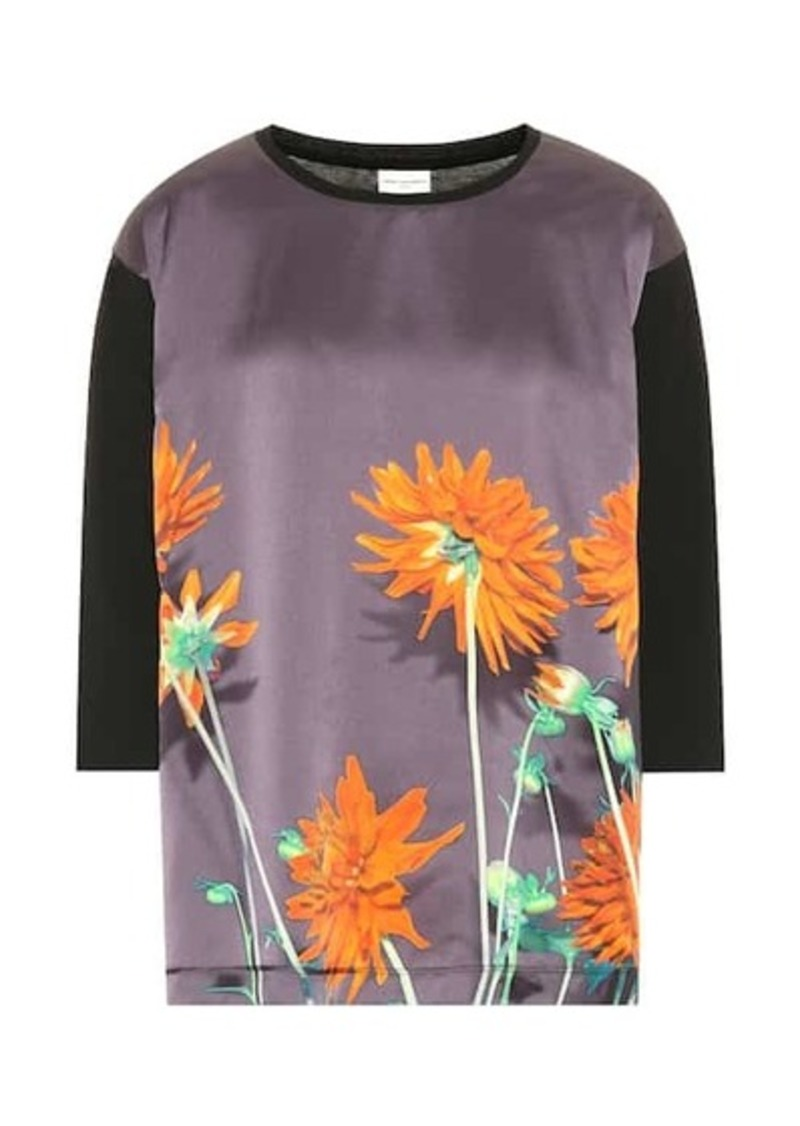 Dries Van Noten Floral cotton and silk top