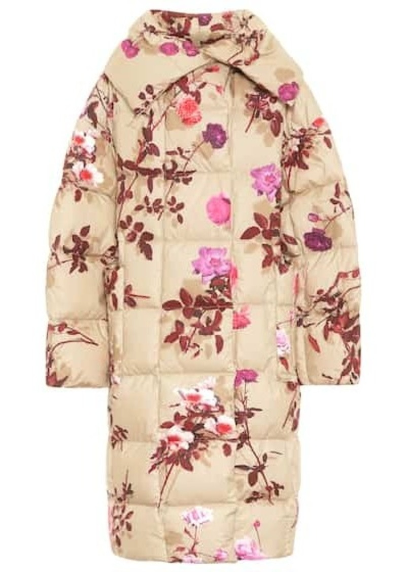Dries Van Noten Floral cotton puffer coat