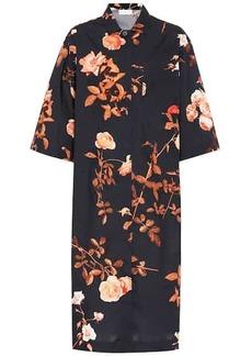 Dries Van Noten Floral cotton shirt dress