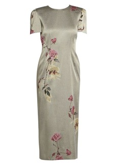 Dries Van Noten Floral-Embellished Lurex Dress