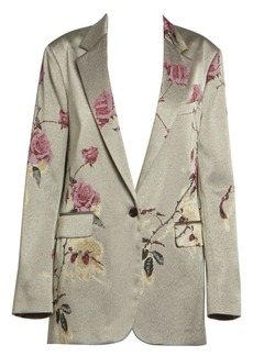 Dries Van Noten Floral-Embellished Lurex Jacket