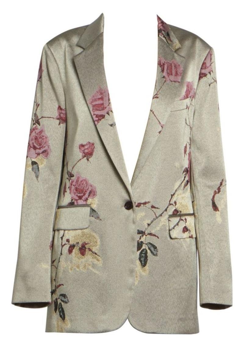 Dries Van Noten Floral-Embellished Lurex Jacket