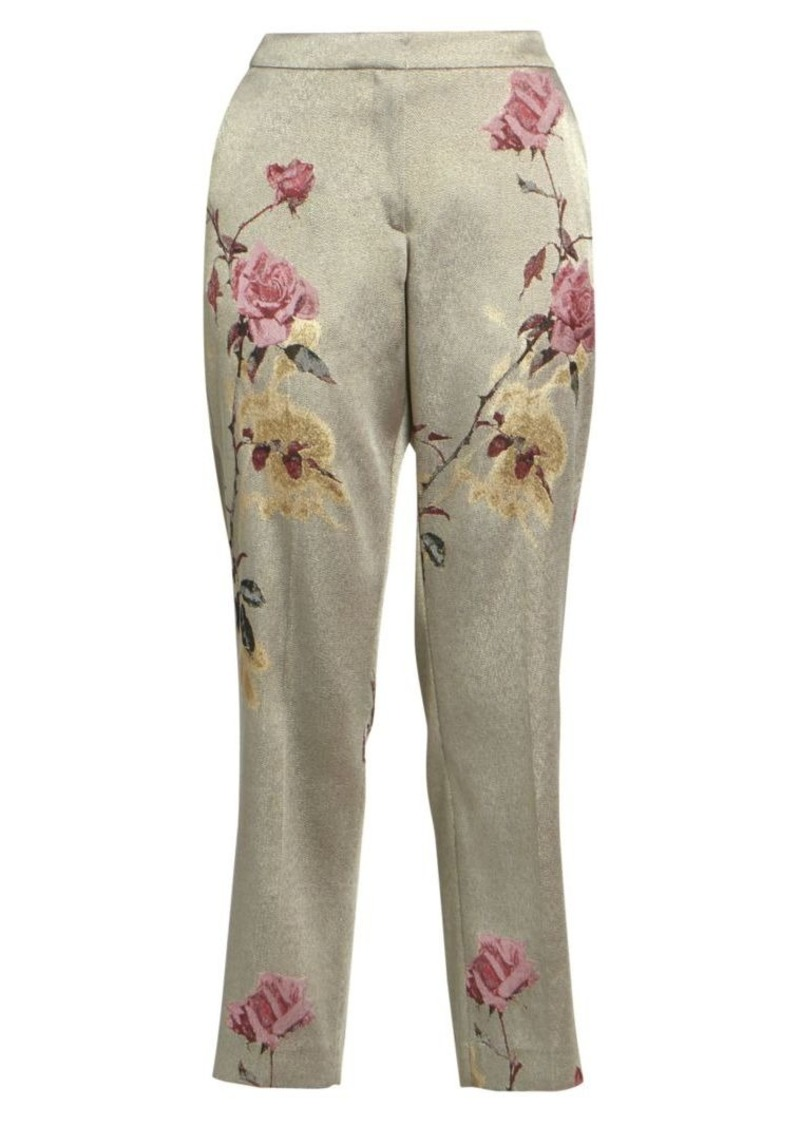 Dries Van Noten Floral-Embellished Lurex Trousers
