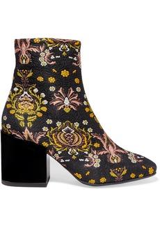 Dries Van Noten Floral-jacquard Ankle Boots