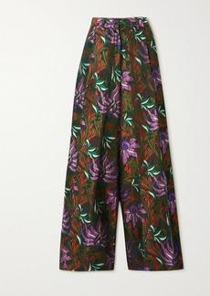 Dries Van Noten Floral-jacquard Wide-leg Pants